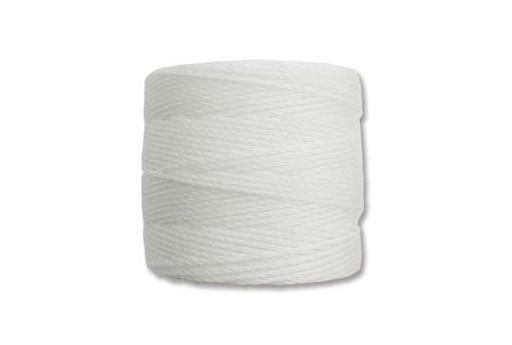 Super-Lon Bead Cord 70mt., White, 0,5mm.