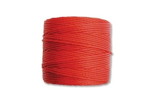 Shanghai Red Super-Lon Bead Cord 0,5mm - 70m