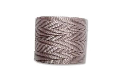 Silver Super-Lon Bead Cord 0,5mm - 70m
