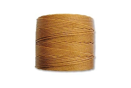 Gold Super-Lon Bead Cord 0,5mm - 70m