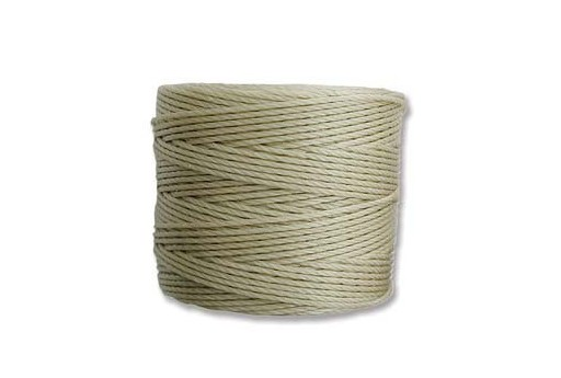 Light Khaki Super-Lon Bead Cord 0,5mm - 70m