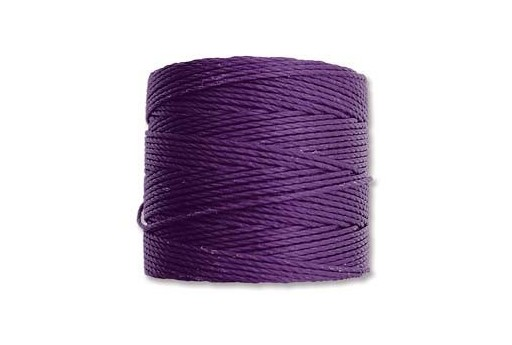 Purple Super-Lon Bead Cord 0,5mm - 70m
