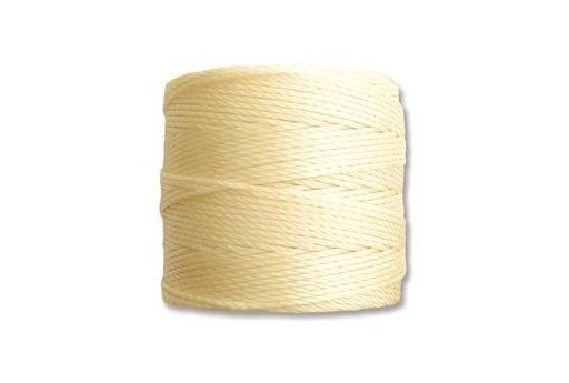 Pale Yellow Super-Lon Bead Cord 0,5mm - 70m