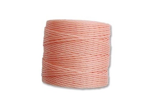 Super-Lon Bead Cord 70mt. Coral Pink 0,5mm