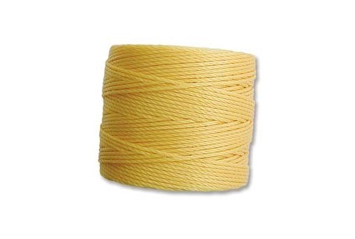Super-Lon Bead Cord 70mt. Golden Yellow 0,5mm