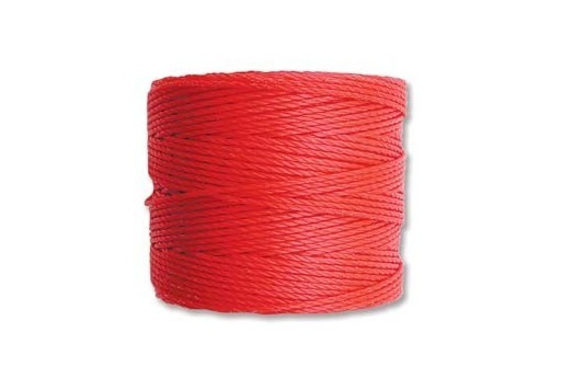 Super-Lon Bead Cord 70mt. Bright Coral 0,5mm SL-BRC