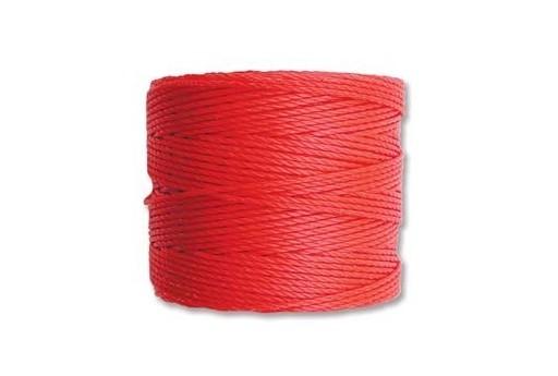 Super-Lon Bead Cord 70mt. Bright Coral 0,5mm SL-BRC