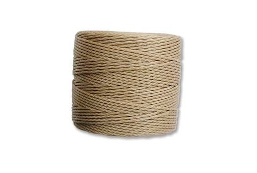 Super-Lon Bead Cord 70mt. Light Brown 0,5mm LBR