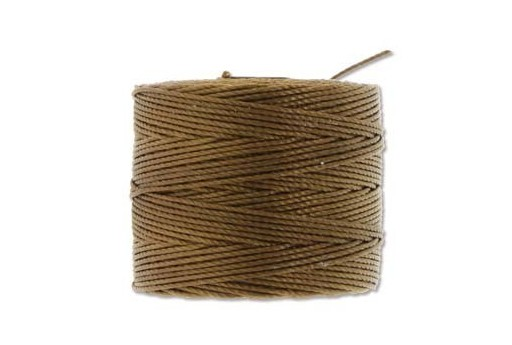 Super-Lon Bead Cord 70mt. Milk Chocolate 0,5mm CH