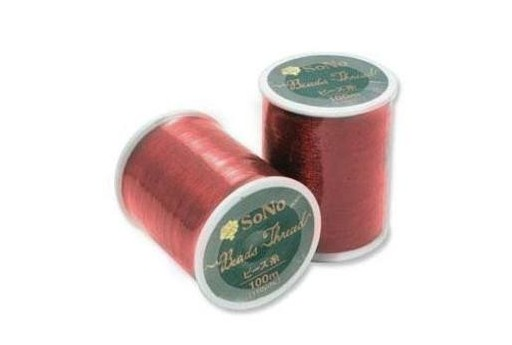 SONO Beading Thread Red 100m