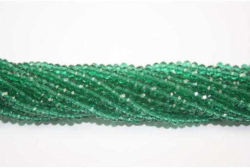 Cristallo Cinese Rondella Sfaccettata Verde Smeraldo 4x3mm - 150pz