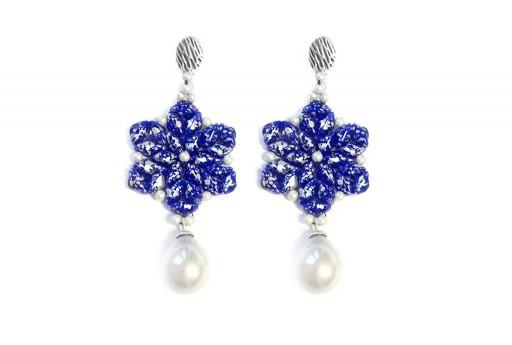 Spring Drops Earrings Kit Silver Splash Blue