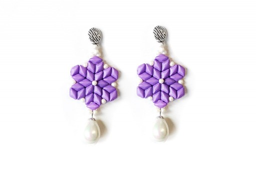 Spring Drops Earrings Kit Purple