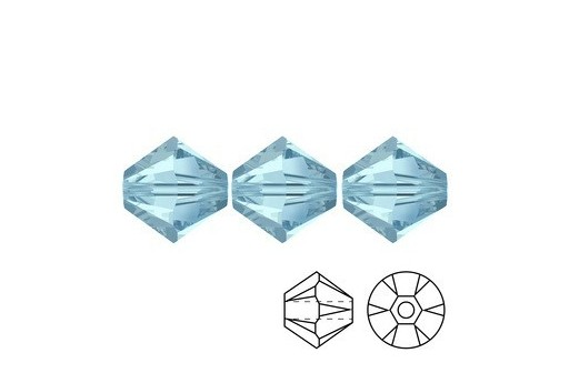 Swarovski Bicones 5328 Aquamarine 3mm - 20pcs