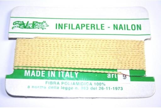 Yellow Nylon Thread With Needle Size 9 - 2pcs