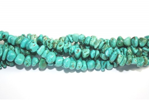 Magnesite Beads Chips Turquoise 6x12mm - 90pcs