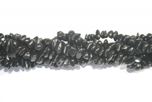Magnesite Beads Chips Black 6x12mm - 90pcs