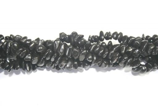 Pietre Dure Magnesite Chips Nero 6x12mm - 90pz