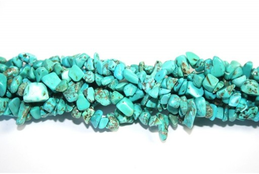 Magnesite Beads Chips Turquoise 5x8mm - 220pcs