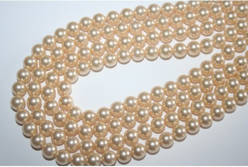 Swarovski Pearls 5810 6mm Crystal Light Gold - 12pcs