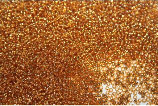 Toho Seed Beads Silver Lined Topaz 15/0 - 50gr
