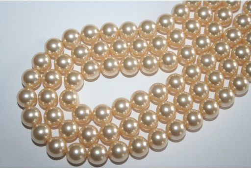 Swarovski Pearls Light Gold 5810 8mm - 8pcs