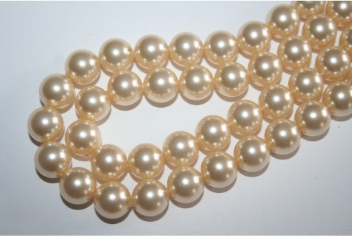 Swarovski Pearls Light Gold 5810 10mm - 4pcs