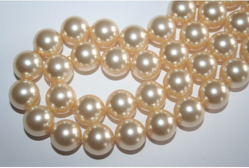 Swarovski Pearls 5810 Crystal Light Gold 12mm - 2pcs