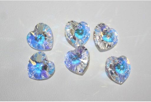 Pendente Cuore Swarovski 10,3x10mm Crystal AB 6228 NOVITA'