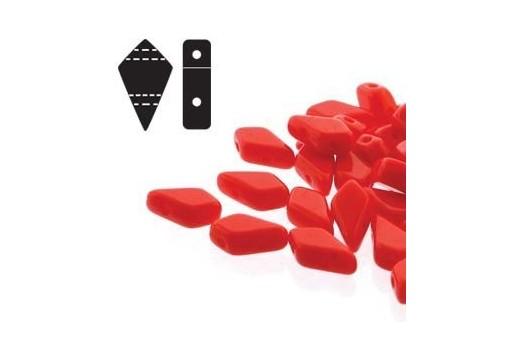 Czech Glass Beads Kite Red 9x5mm - 10gr