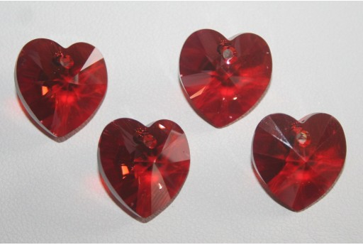 Swarovski Heart Pendant 14,4x14mm Red Magma - 2pcs