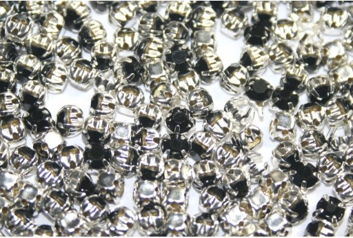 Glass Rhinestone Montee Beads Black SS16 - 20pcs