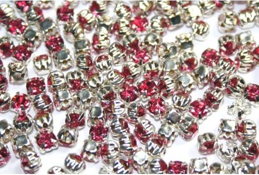 Perline Strass Montee Rosa SS16 - 20pz