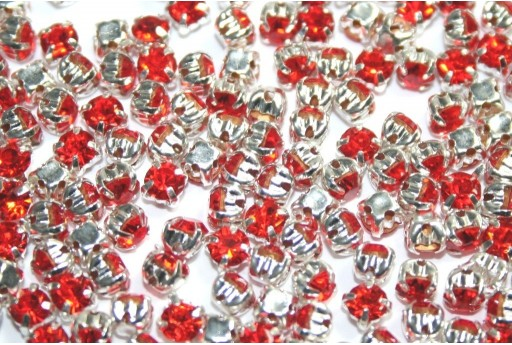 Glass Rhinestone Montee Beads Orange SS16 - 20pcs