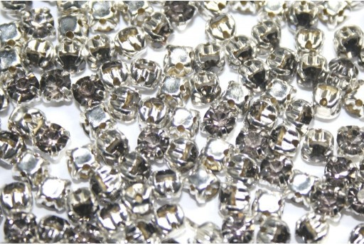 Glass Rhinestone Montee Beads Grey SS16 - 20pcs