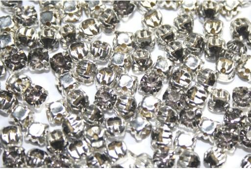Perline Strass Montee Grigio SS16 - 20pz