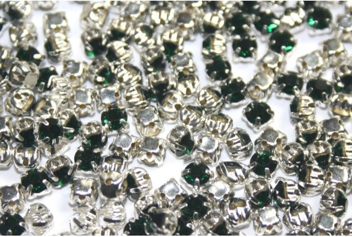 Glass Rhinestone Montee Beads Green SS16 - 20pcs