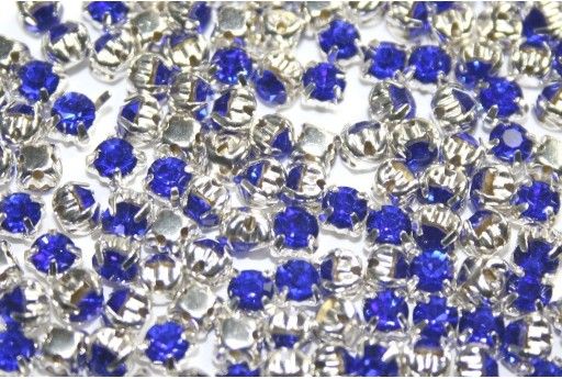 Glass Rhinestone Montee Beads Blue SS16 - 20pcs