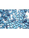 Perline Paisley Duo Metallic Suede Blue 8x5mm - 10gr