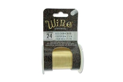 Lacquered Tarnish Resistant Wire Gold 24ga - 30yd