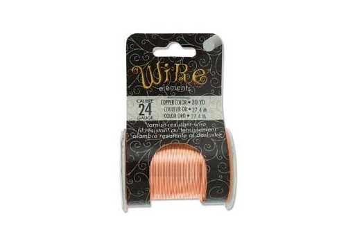 Lacquered Tarnish Resistant Wire Copper 24ga - 30yd