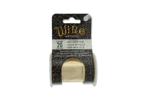 Lacquered Tarnish Resistant Wire Gold 20ga - 15yd