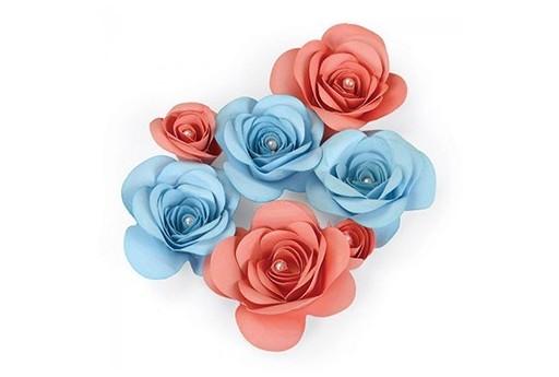 Fustella Thinlits PLUS Passerotti Innamorati Motivo Floreale 3D n.2 Emily Atherton Sizzix