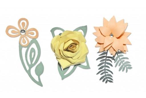 Fustella Thinlits PLUS Passerotti Innamorati Motivo Floreale 3D Emily Atherton Sizzix