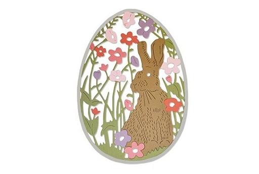 Fustella Thinlits Coniglio nel Prato Pasqua Sizzix