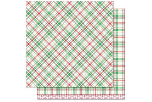 Carta Decorata Donner Perfectly Plaid Christmas Collection Lawn Fawn 30x30cm 1pz