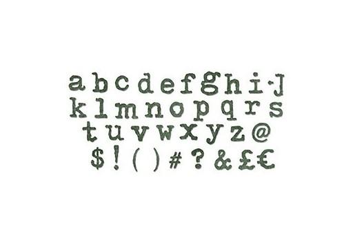Fustella BigZ XL Alfabeto Tipografico Lettere Minuscole Tim Holtz Alterations Sizzix