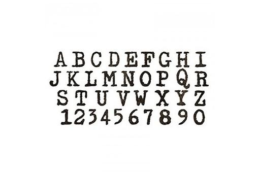 Fustella BigZ XL Alfabeto Tipografico Lettere Maiuscole Tim Holtz Alterations Sizzix