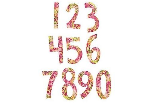 BigZ Dies Set Fresh Blossoms Numbers Stephanie Ackerman Sizzix 2pcs