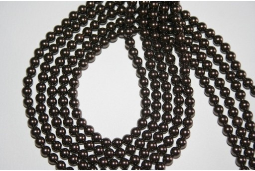 Swarovski Pearls Brown 5810 4mm - 20pcs